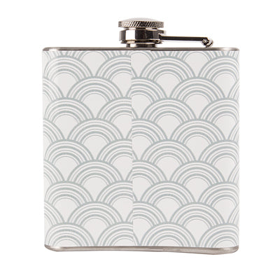 Personalized Gatsby Silver Patterned Flask