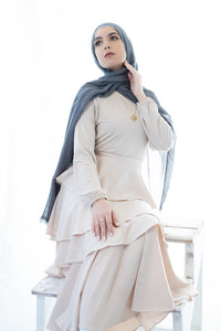 Fossil Grey Featherlite Modal/Cotton Hijab