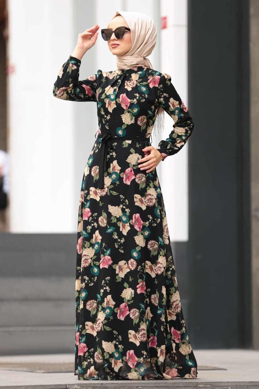 Summer nights floral chiffon dress
