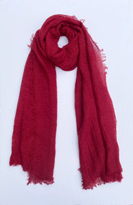 Cranberry Cotton Crinkle Hijab