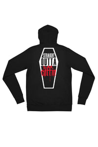 Straight Outta The Coffin Zip Up Hoodie - Straight Outta The Coffin