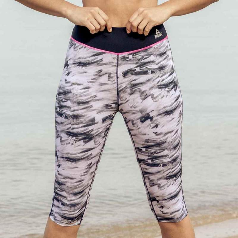 PEAK WOMENS 3/4 PRINTED LEGGINGS