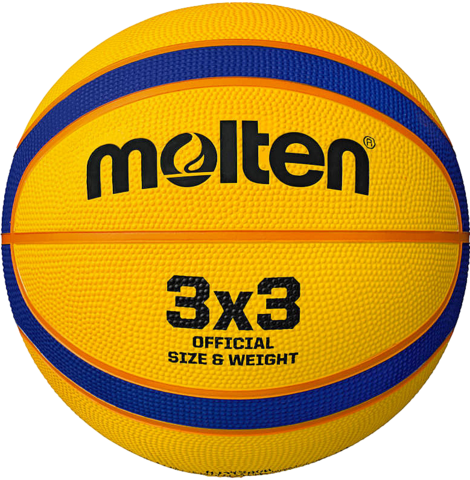 3 X 3 Rubber Basketball