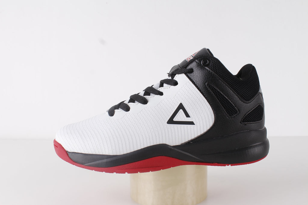 PEAK Basketball Kids Sleek - White/Black/Red