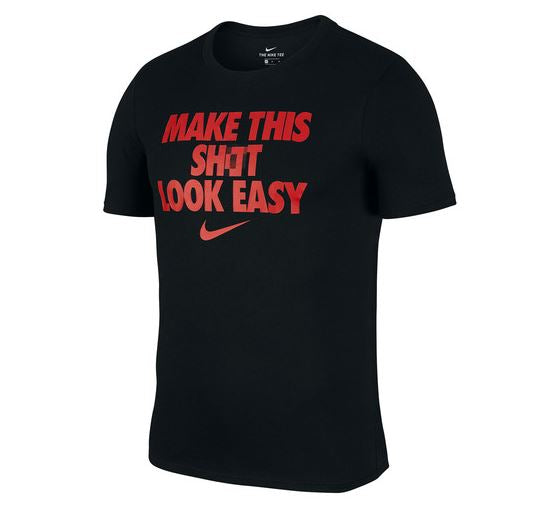 Mens - Basketball Look Easy T-Shirt - Black
