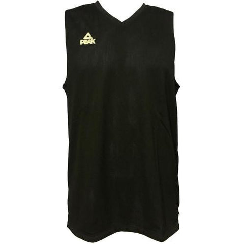 PEAK Premium Reversible Basketball Singlet - BLACK/WHITE