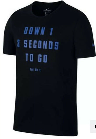 Down 1 Nike dri fit shirt black