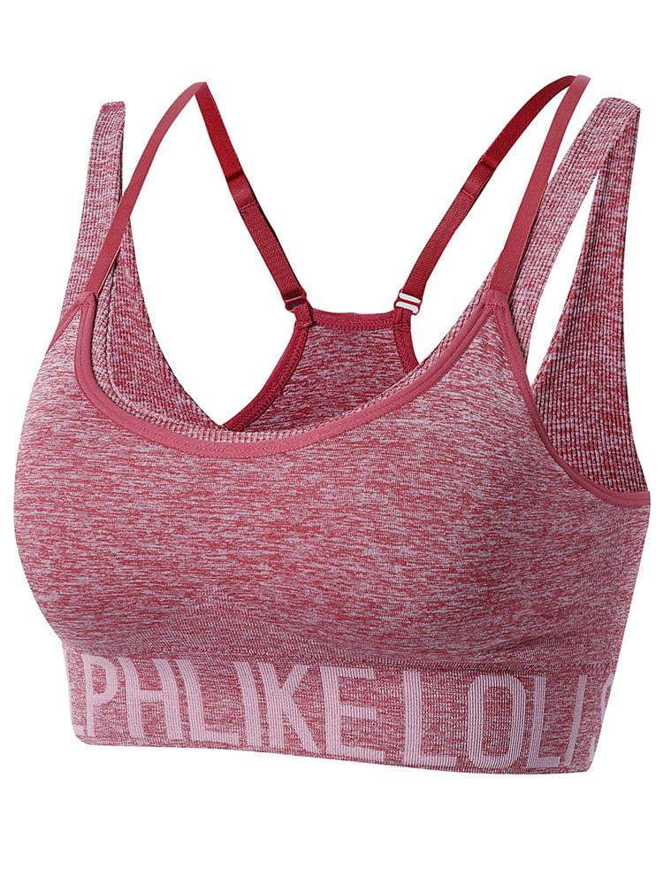 Sloli Anti Vibration Running Sports Bra for High Intensity Training S / Pink