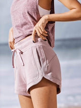 Sloli High Waist Cotton Sports Shorts