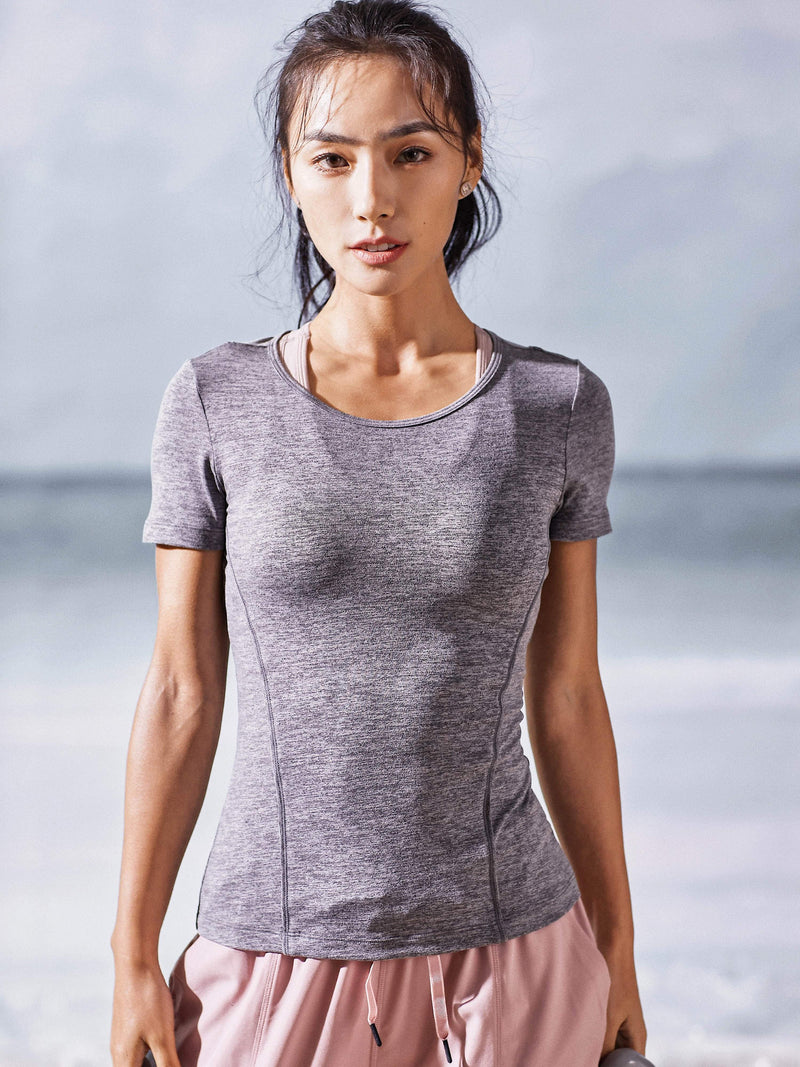 Sloli Thin Material Breathable Sports T-shirt