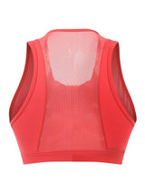 Sloli Anti-Vibration Front Opening Sports Bra XS / Pepper Red