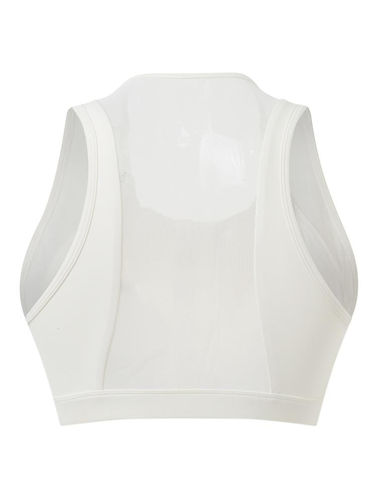 Sloli Anti-Vibration Front Opening Sports Bra XS / White