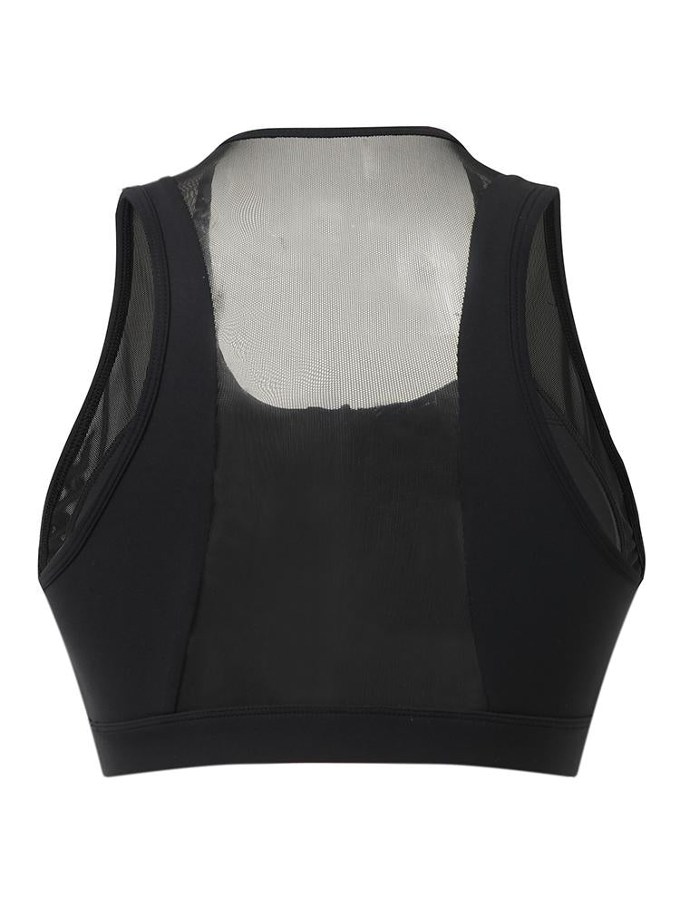 Sloli Anti-Vibration Front Opening Sports Bra XS / Black