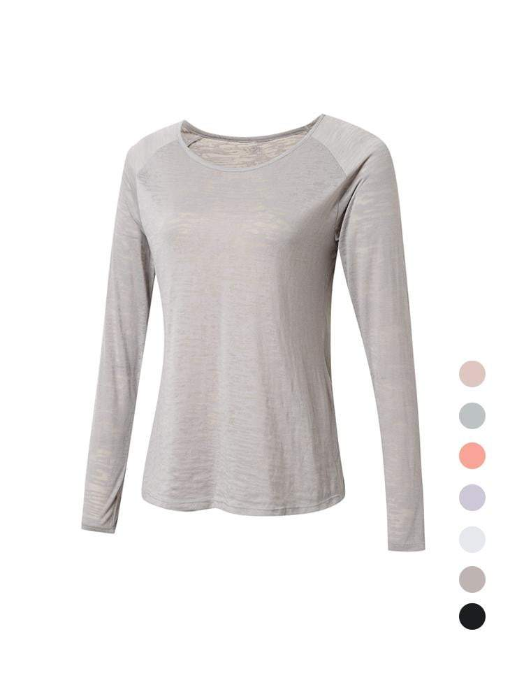 Sloli Long-Sleeved Mesh Sports Shirt XS / Gray