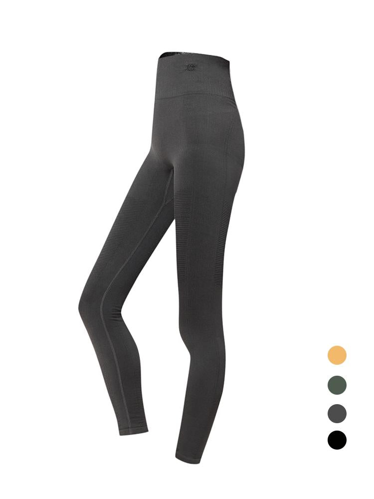 Sloli High Waist Elastic Sports Leggings S / Dark Gray