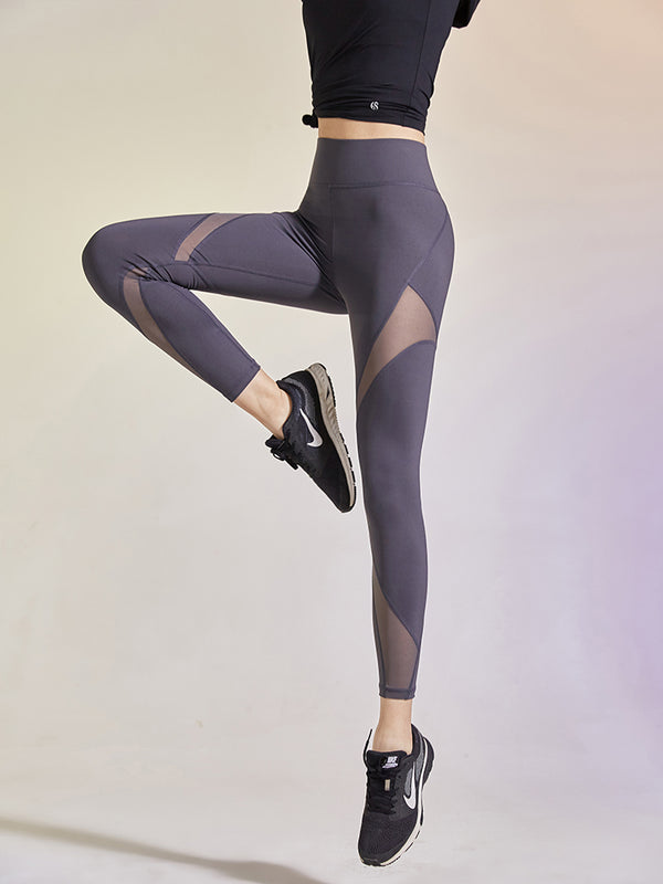 Sloli High Waist Mesh Panel Legging