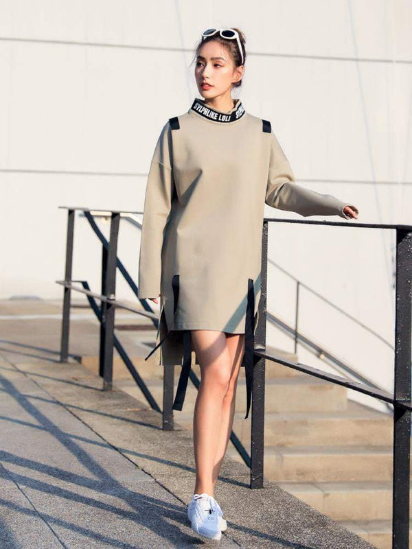Sloli Long Length Pullover Hoodie Skirt