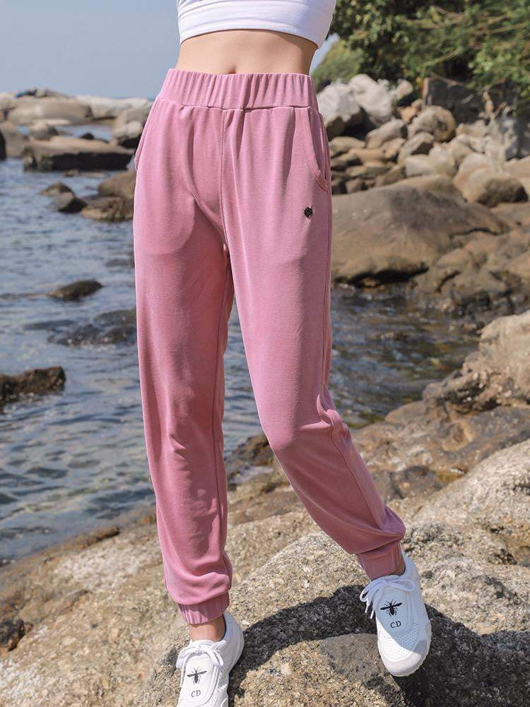 High Waist Pure Color Sports Pants