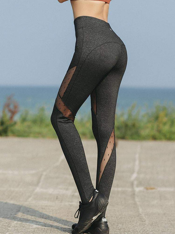 Sloli Quick-Drying Mesh Sports Leggings Long length