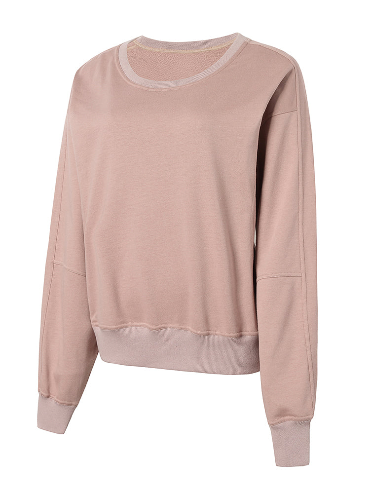 Sloli Crew Neck Women Sweatshirt XS / Light Purple
