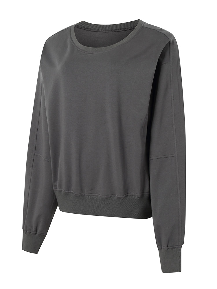 Sloli Crew Neck Women Sweatshirt XS / Gray