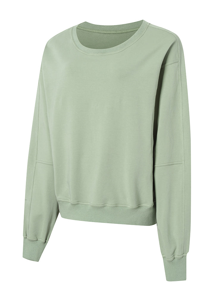 Sloli Crew Neck Women Sweatshirt XS / Light Green