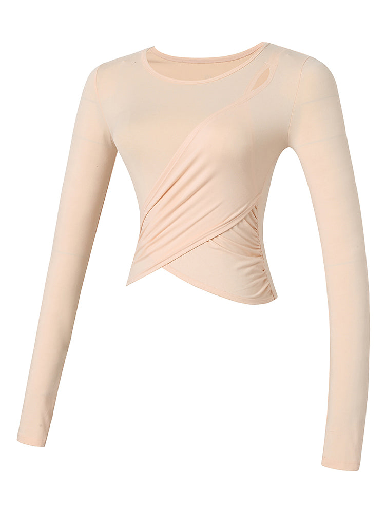 Sloli Long Sleeve Yoga/Sports Shirt XS / Pink