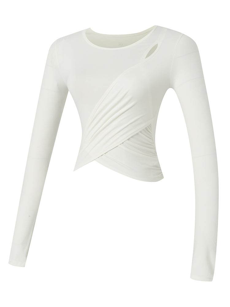 Sloli Long Sleeve Yoga/Sports Shirt XS / White