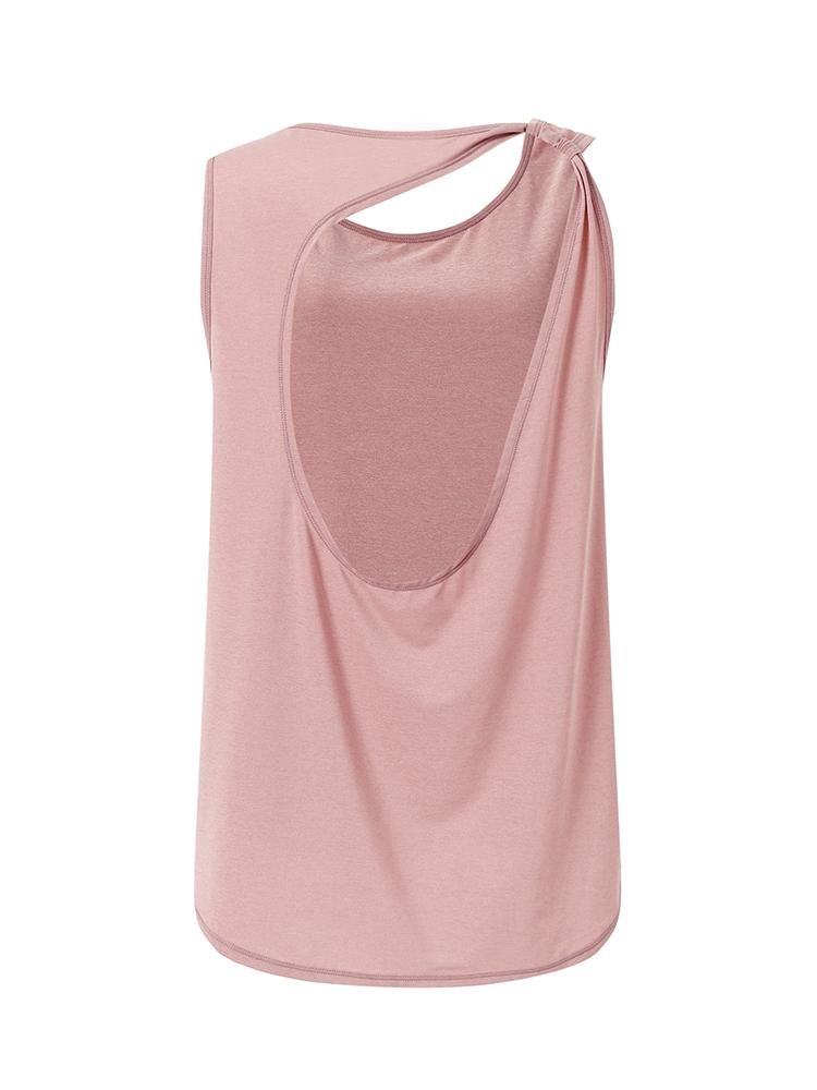 Sloli Backless Breathable Tank Top XS / Pink