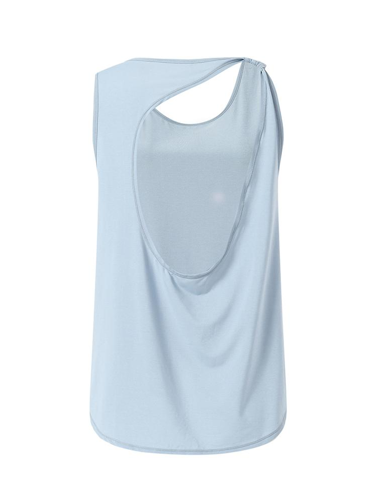 Sloli Backless Breathable Tank Top XS / Blue