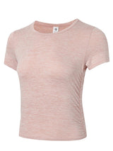 Sloli Cropped Short Sleeve Shirt XS / Pink
