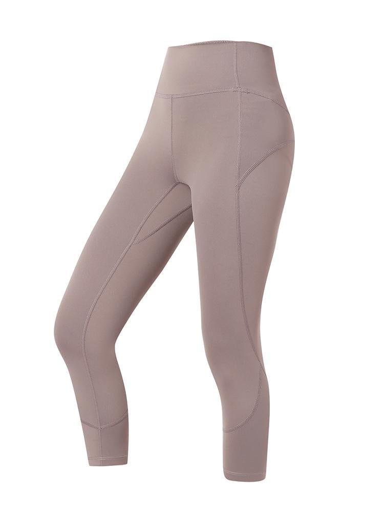 Sloli Quick Dry Cropped Leggings XS / Purple