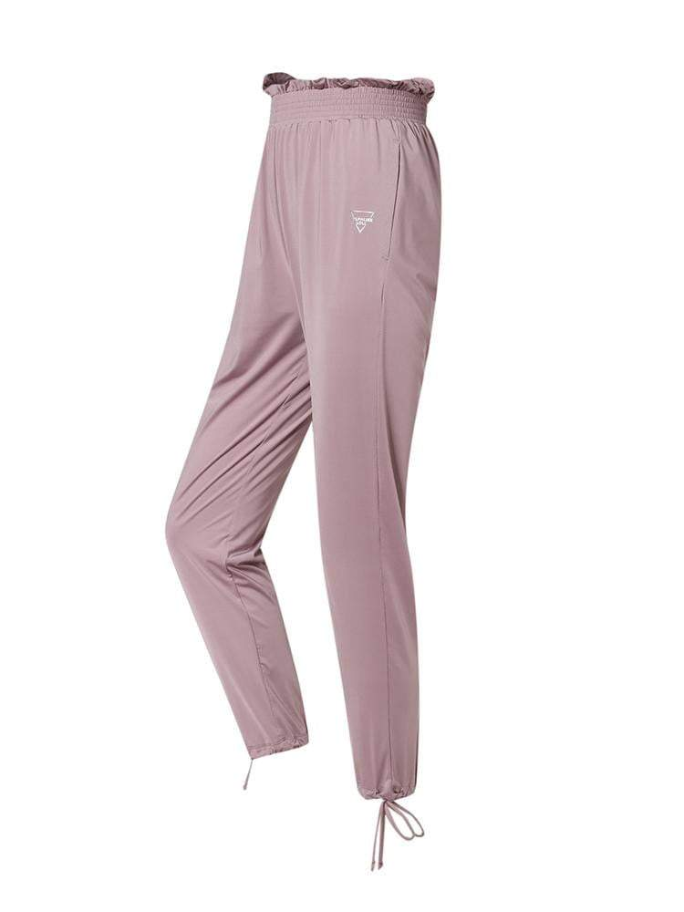 Sloli Casual Pants With Frills XS / Pink