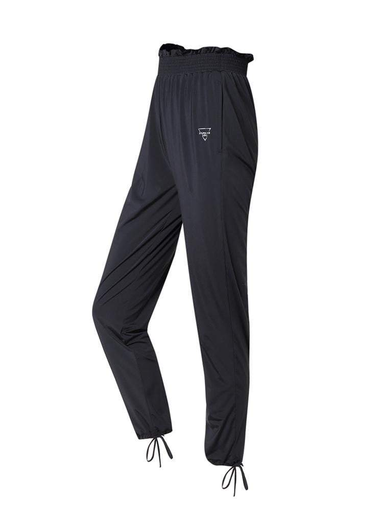 Sloli Casual Pants With Frills XS / Black