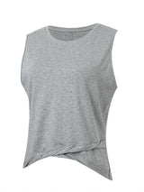 Sloli Twisted Hem Sleeveless Shirt XS / Gray