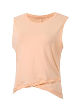 Sloli Twisted Hem Sleeveless Shirt XS / Orange Pink