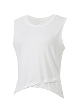 Sloli Twisted Hem Sleeveless Shirt XS / White