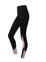 Sloli Color Mixed Sports Leggings XS / Black & Pink