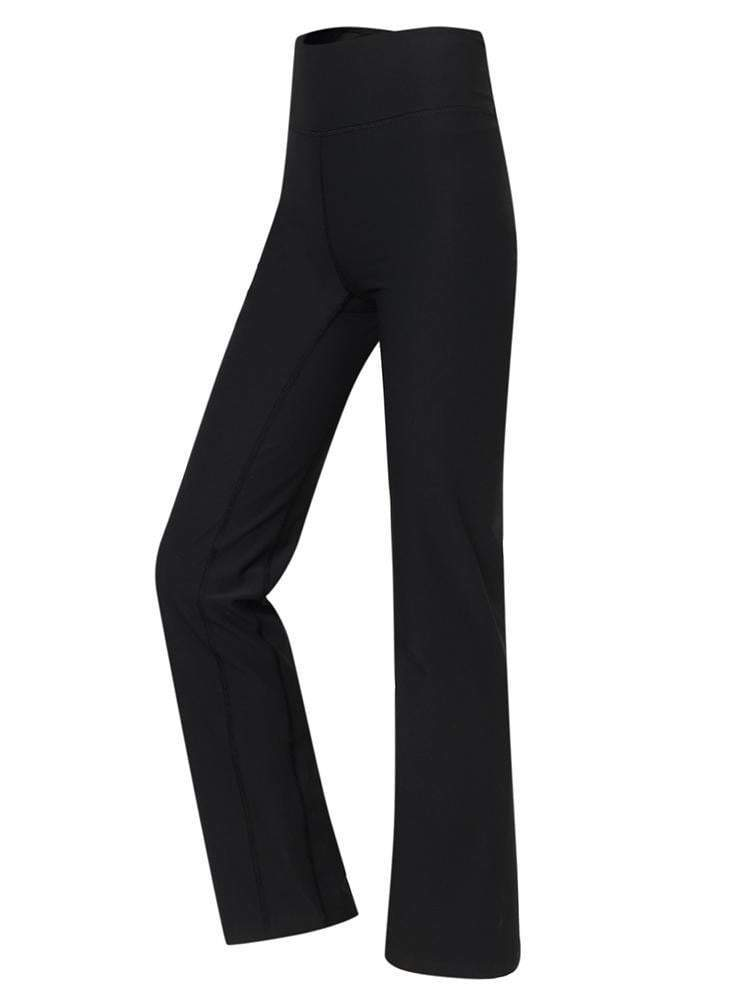 Sloli High Waist Sports Yoga Pants Flare Cut XS / Black