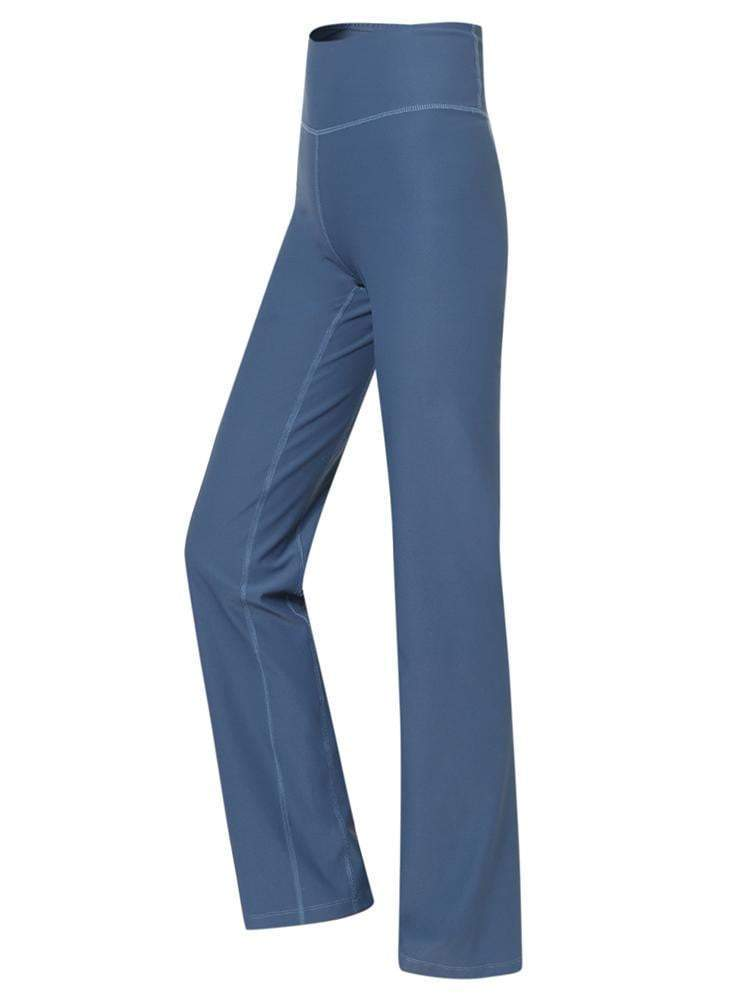 Sloli High Waist Sports Yoga Pants Flare Cut XS / Blue