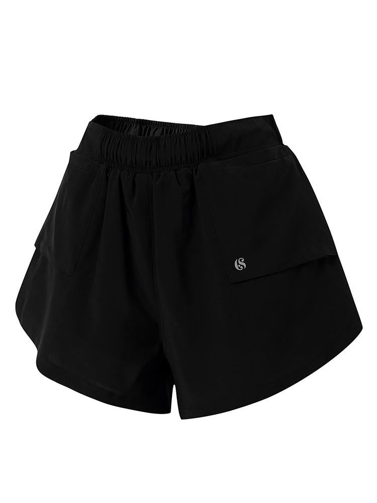 Sloli Casual Running Shorts with Pocket XS / Black