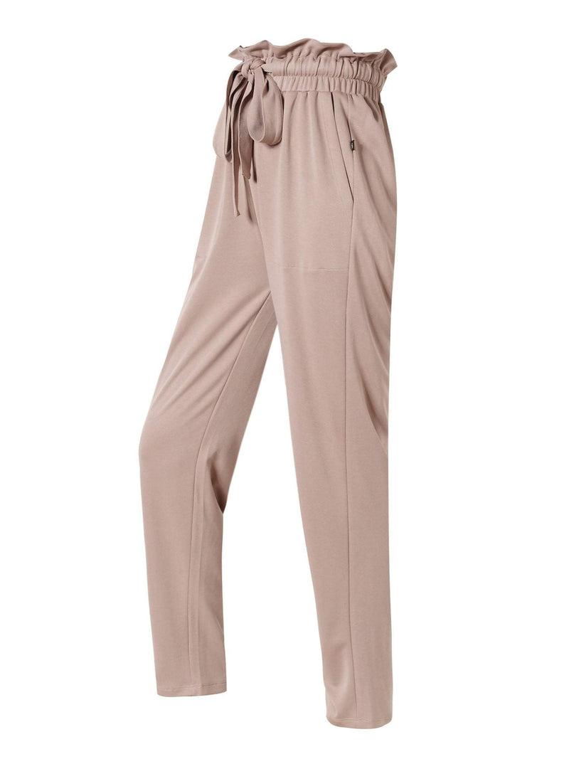 Sloli High Waisted Casual Long Pants XS / Pink