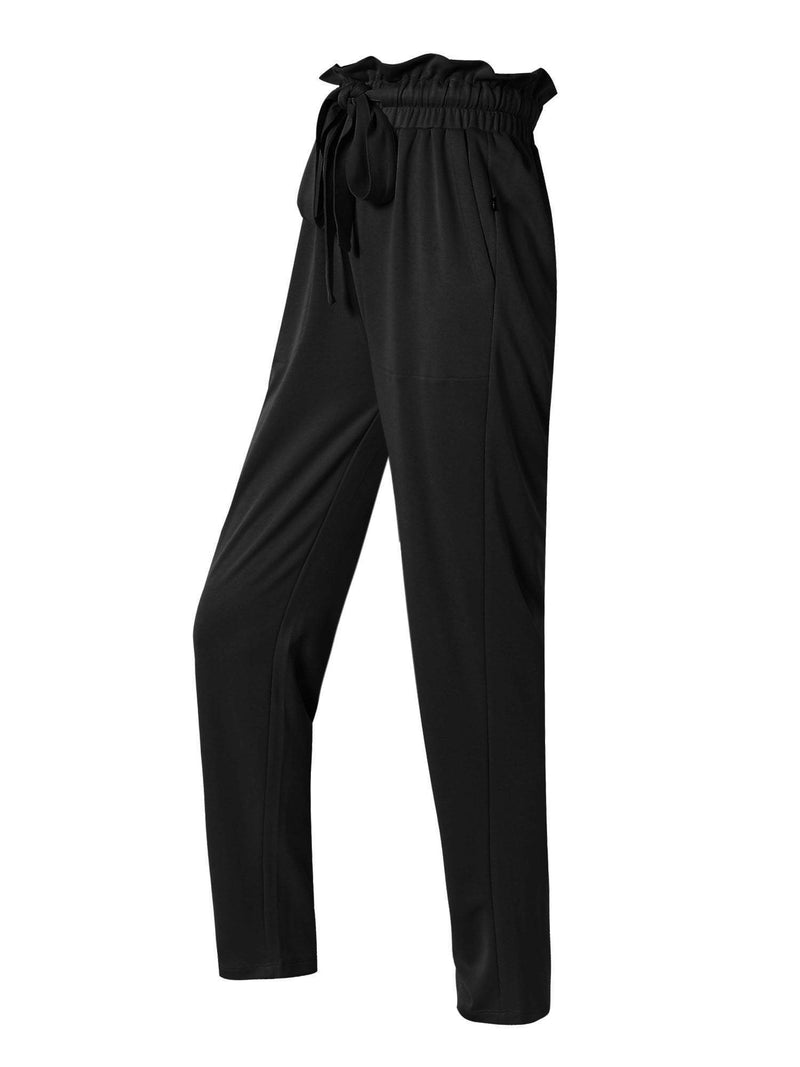 Sloli High Waisted Casual Long Pants XS / Black