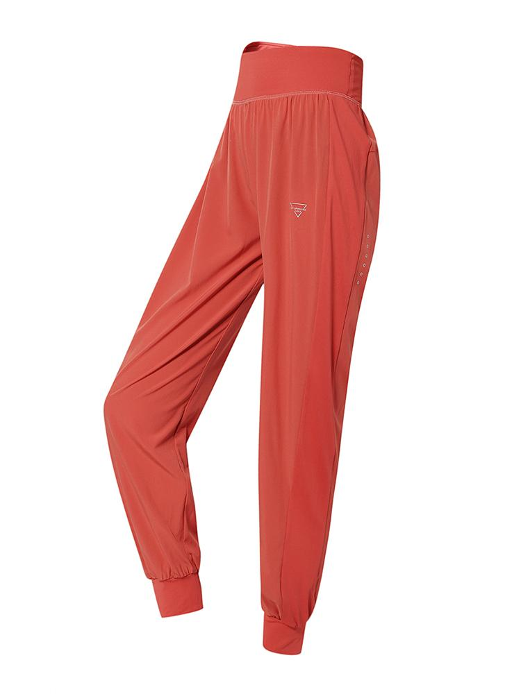 Sloli Breathable Cropped Casual Pants for Summer XS / Red