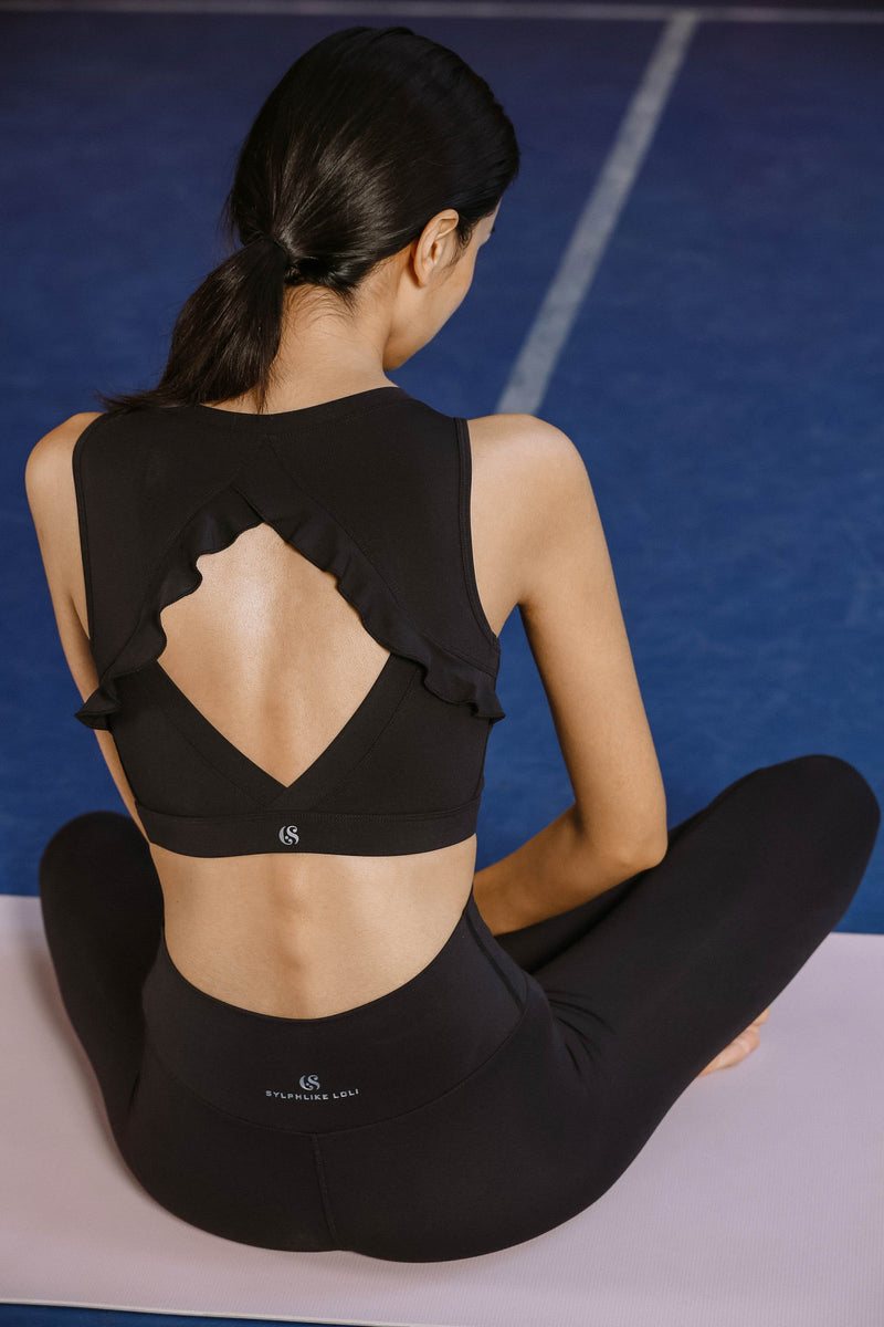 Sloli Yoga Bra with Back Pattern Frills