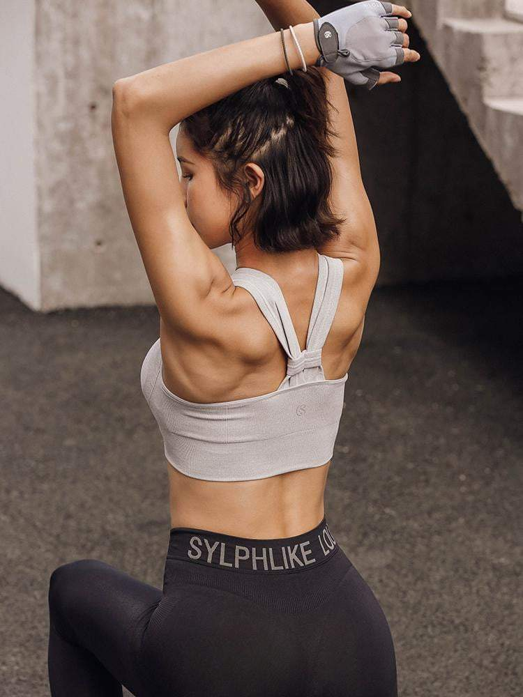 Sloli Y-Shaped Backless Sports Bra