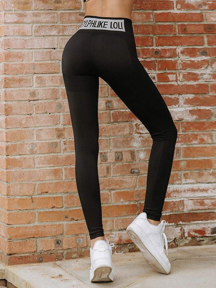 Sloli High Elastic Hip-Up Sports Leggings