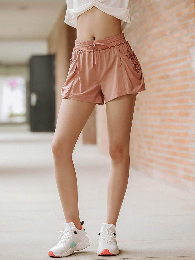 Sloli Sports Shorts with Lace Rims
