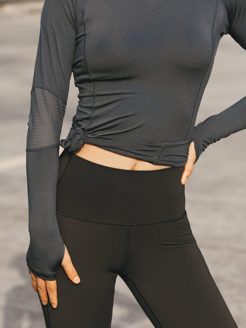Mesh Stitching Long Sleeve