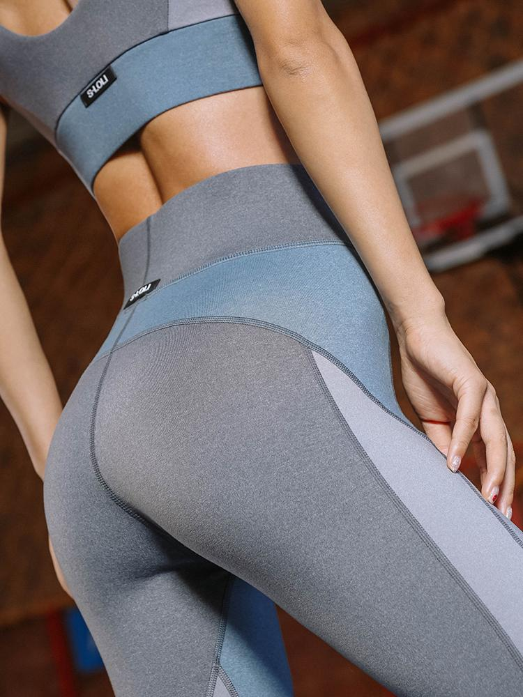 Sloli Color Scheme Sports Fitness Leggings